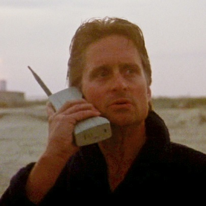 A picture of me on my cellphone. (Before I've shaved, obviously).