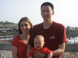 Photo from our second trip to Maine, with only one child. (We have no photos from our current trip!)